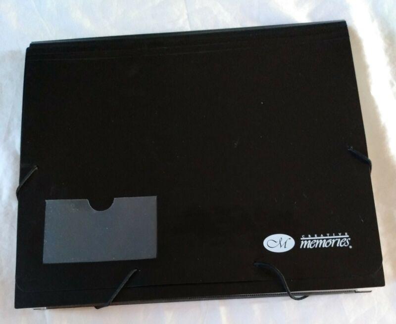 Creative Memories Paper Black File Mate Accordian Organizer Folder Storage Photo