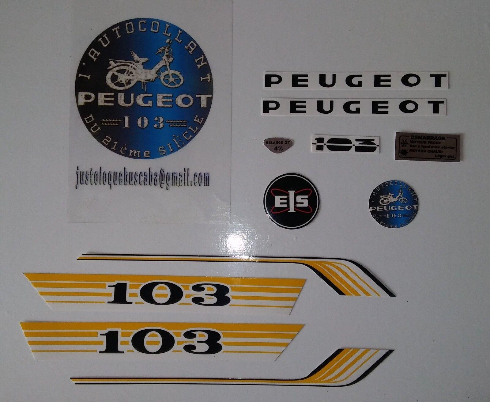 Autocollant mobylette Peugeot 103 Vogue