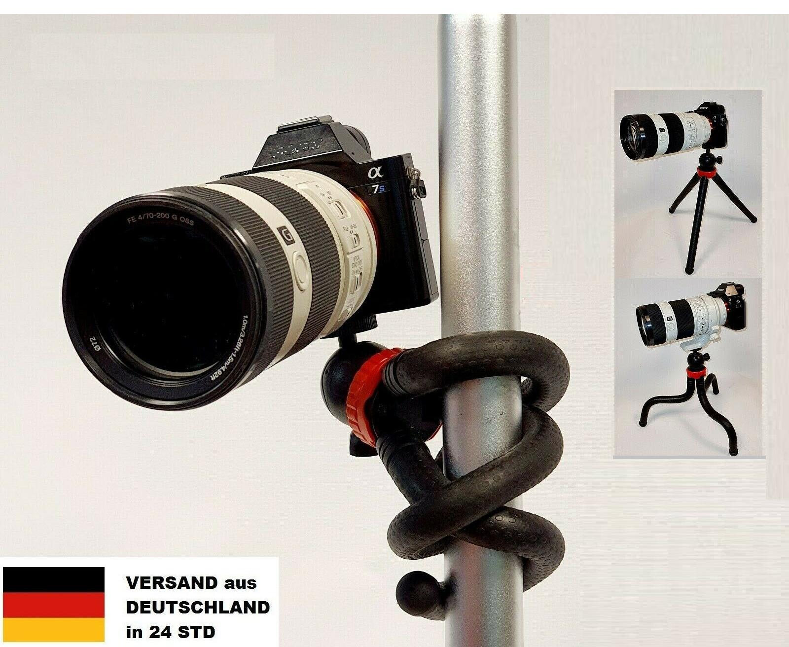 32cm Flexibles Stativ Reise Kamera Spiegelreflexkamera DSLR SLR Oktopus Gorilla