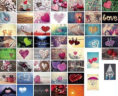 52 Liebes-postkarten im Set, Love-cards, Liebe, Herzen, Hochzeit