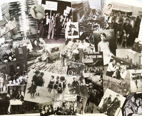 100pcs B&W Lot Vtg History Book Photo Image Pages~Junk Journal Collage Art Paper