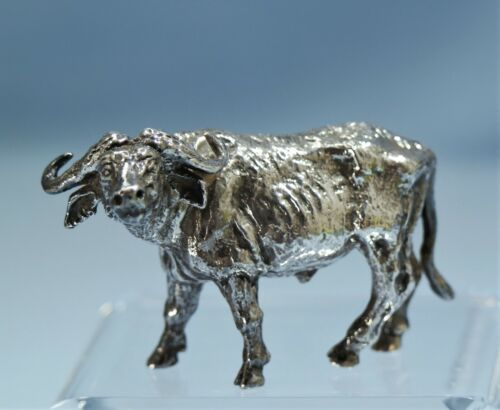 Sterling Silver Heavy Figure of a Water-Buffalo 20th Century