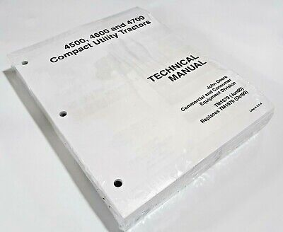 4700 John Deere Technical Service Shop Manual Repair Book In Plastic 722 Pages