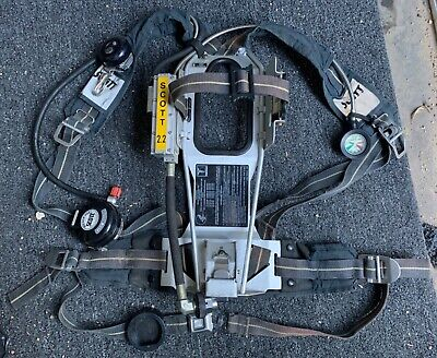Scott 2.2 Ap50 Air Pack With Low Air Audible Bell Scba Air Pak Great Condition