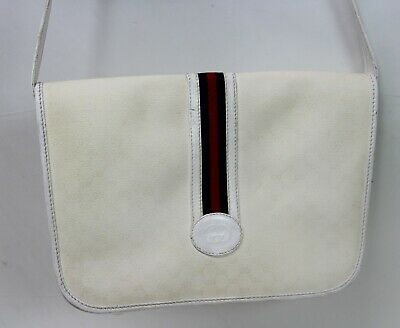 Vintage Gucci Women's Shoulder Bag Cross Body PVC White/Ivory 0011160915