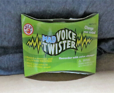 NEW WILD PLANET MAD VOICE TWISTER RECORDER WITH VOICE CHANGER -  WARP YOUR VOICE