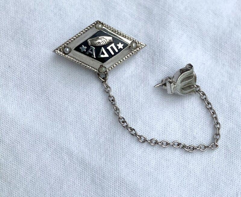 Alpha Delta Pi Sorority Sterling Silver Brooch/Pin
