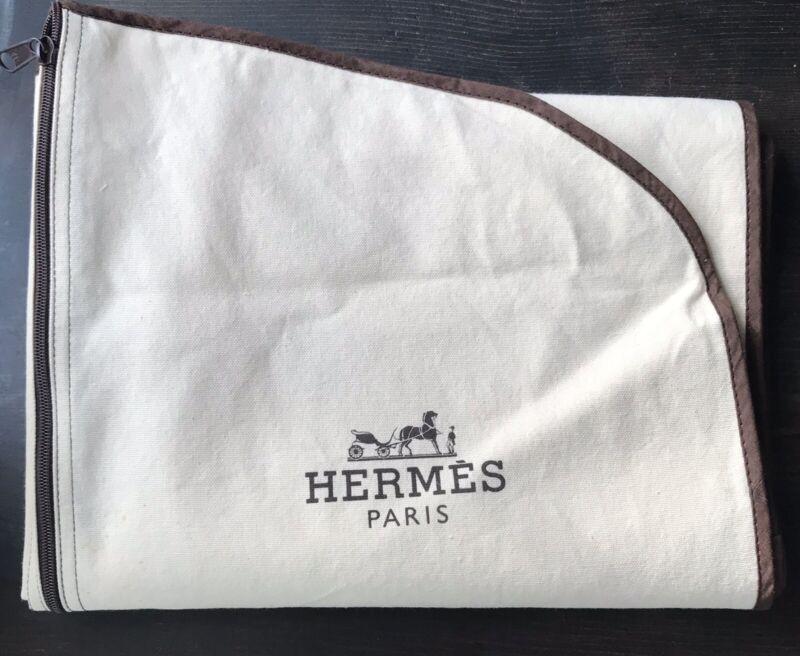 """Authentic Hermes Canvas 60"""" Garment Bag"""