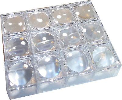 12 Stk. Mini Lupendose Becherlupe klein mit 5fach Vergößerung klarsichtig