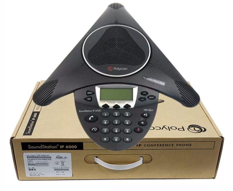 2 IPolycom SoundStation IP 6000 2200-15600-001 Sip Conference Phone
