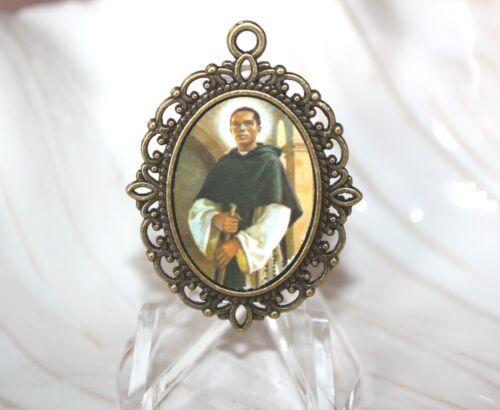St. Martin de Porres Large Oval Medal/Custom Made/Antique Silver or Bronze
