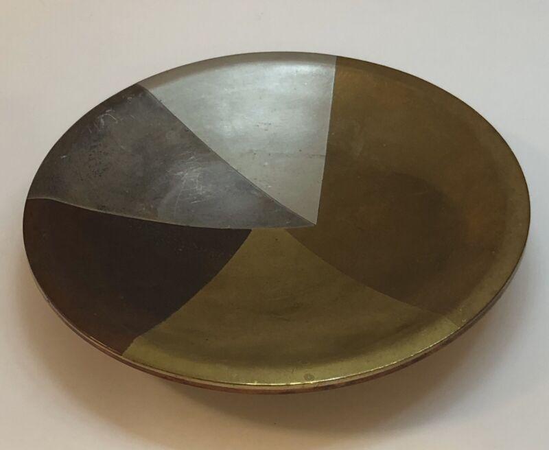 Los Castillo Mexico Mid Century Geometric Sterling Silver Dish Hand Wrought
