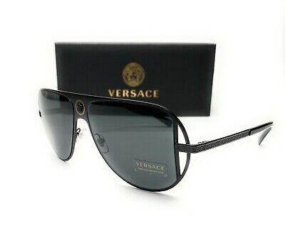 Versace VE2212 1009 87 Matte Black Grey Women's Sunglasses 57mm