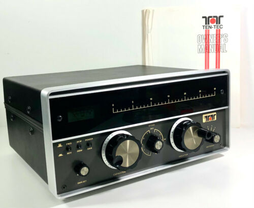 Ten Tec Model 229 HF Antenna Tuner w/ Manual New Dial Cord & Lights As-Is Condtn