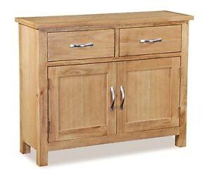 Newlyn - Oak Mini Sideboard / Small Oak Cupboard / Light Oak Small Cabinet