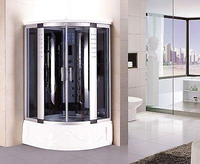 Kokss BLUETOOTH Shower Enclosure Hydro Massage Jets & Steam Spa Sauna 8002-A