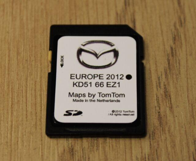 GENUINE MAZDA 3  6 CX-5 SAT NAV NAVIGATION SD CARD UK EUROPE 2012-2013 KD5166EZ1