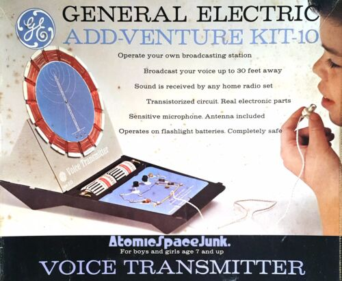 GE ADD-VENTURE KIT VOICE TRANSMITTER PIRATE RADIO 1962 VINTAGE SCIENCE TOY