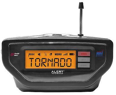 Nib Alert Works Emergency   Black   Weather Radio Ear 10 Same Programmable Noaa