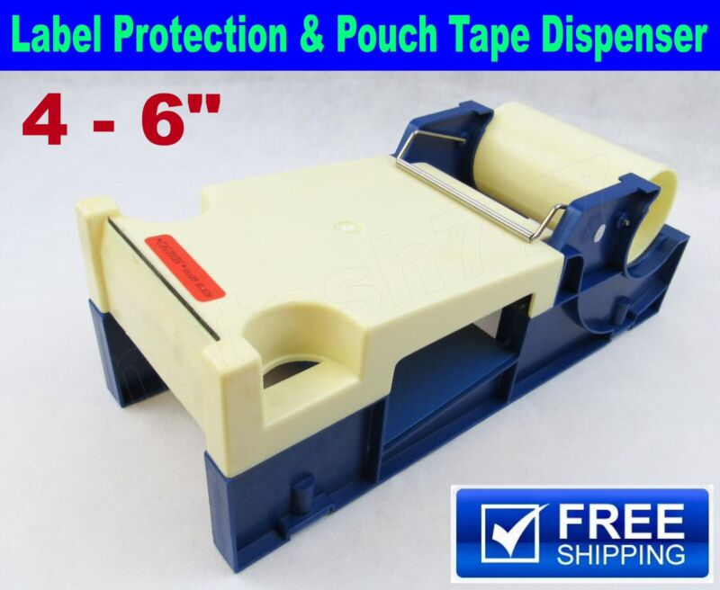 "4 - 6"" Label Protection & Pouch Tape Dispenser Industrial Packing Boxes Bags"