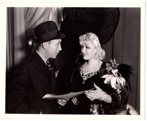 *MAE WEST With Columnist & Screenwriter JIMMY STARR 8x10 From MAE WEST