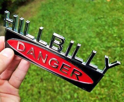 HILLBILLY Emblem for CAR AUTO TRUCK Chrome Metal LOGO 3D DECAL SIGN Silver Badge