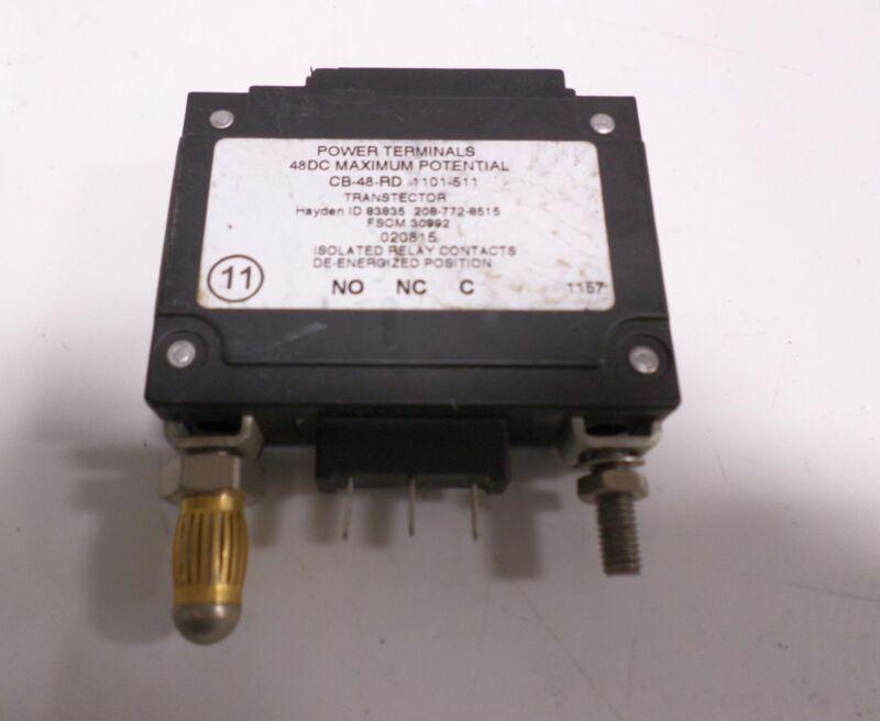 HAYDEN TRANSTECTOR CIRCUIT BREAKER SURGE PROTECTION CB-48-RD