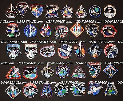 SPACEX ORIGINAL Complete 72 Mission PATCH SET FALCON-9 DRAGON NASA ISS CRS -MINT