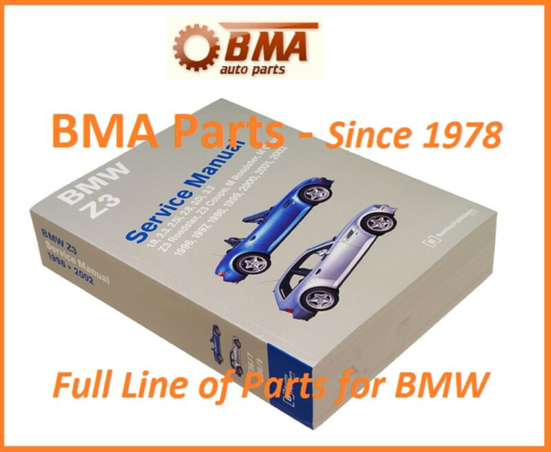 BMW Z3 BENTLEY REPAIR MANUAL 1996-2002 INCLUDING M ROADSTER COUPE BZ02