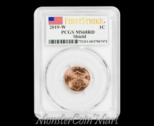 2019-W LINCOLN CENT PCGS MS68RD FIRST STRIKE - READY TO SHIP!