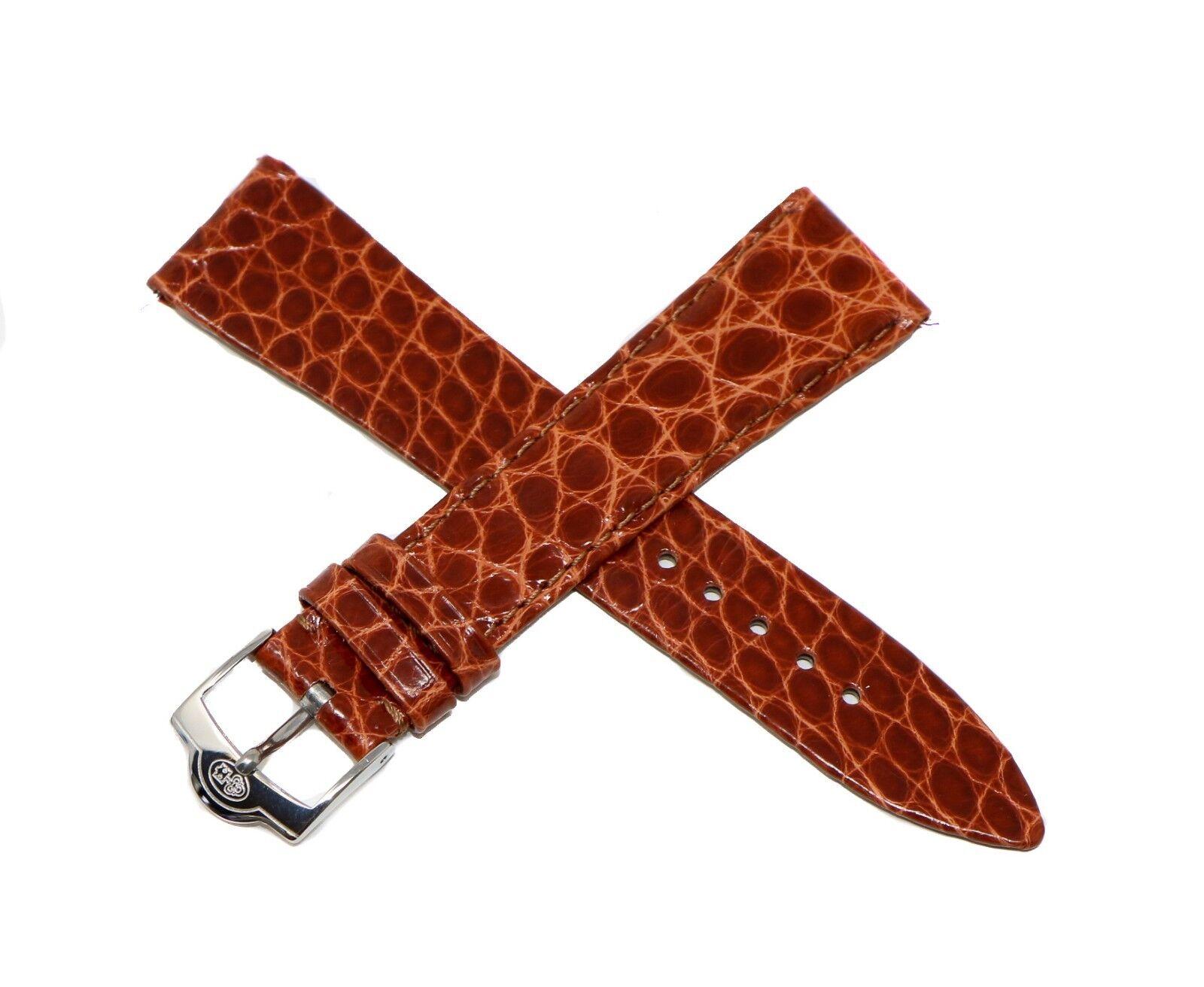Originales Corum Uhrenarmband 20 mm Alligatorenleder Braun
