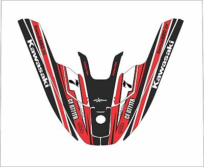 Used, kawasaki 650 sx jet ski wrap graphics pwc stand jetski decal kit red jettribe 7 for sale  Shipping to South Africa