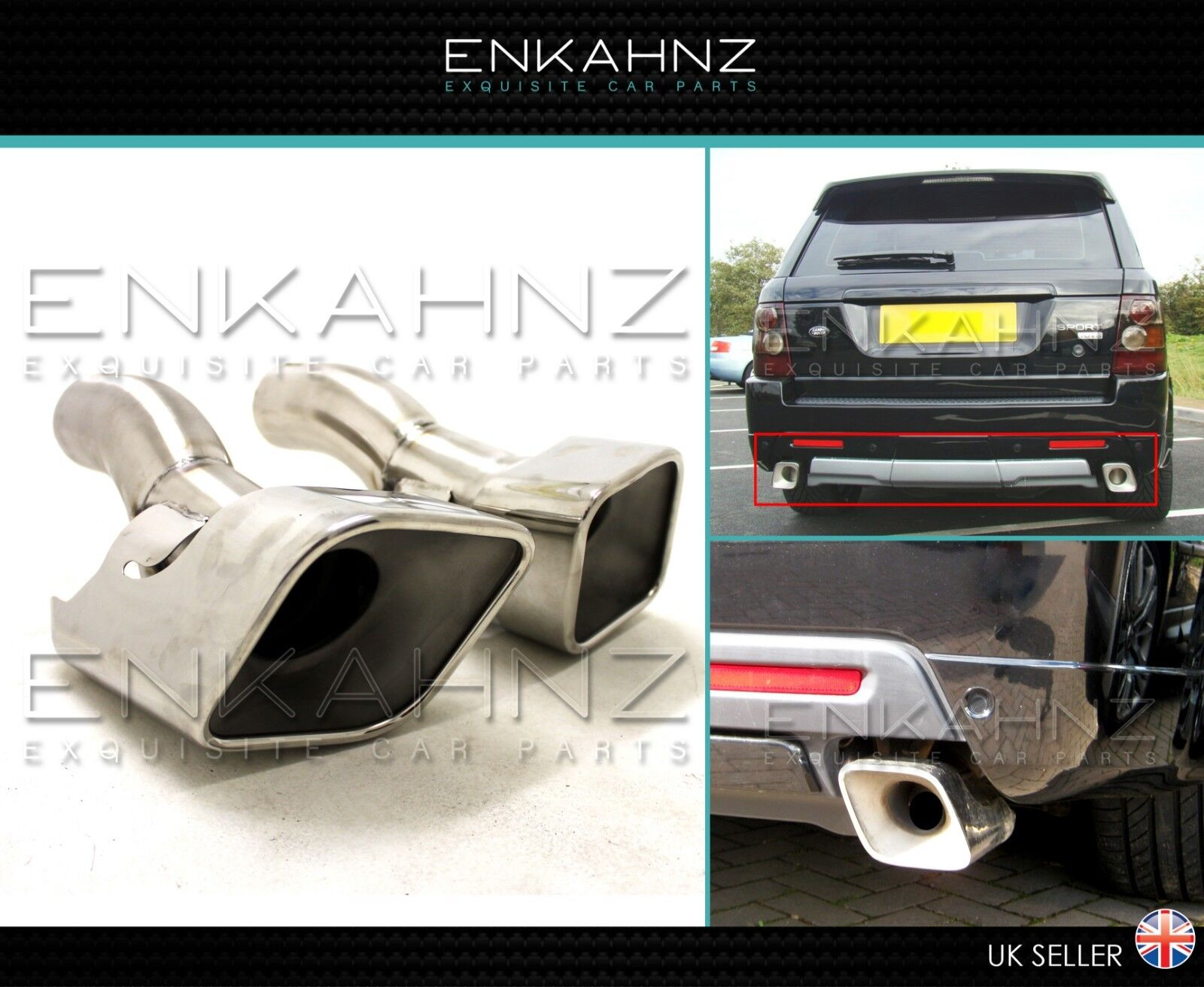 Diesel Exhaust Tip >> Details About Range Rover Sport Autobiography Style Diesel Exhaust Tips L320 High Quality