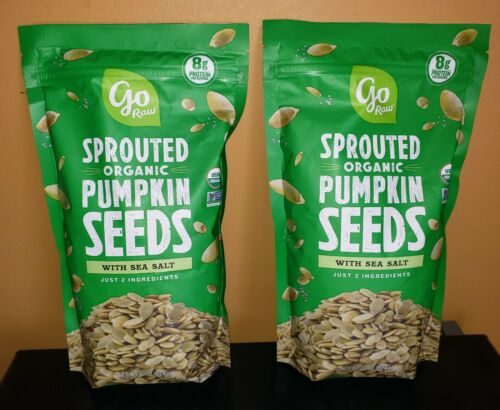 Go Raw Sprouted Organic Pumpkin Seeds 22 oz. (2x Bags)