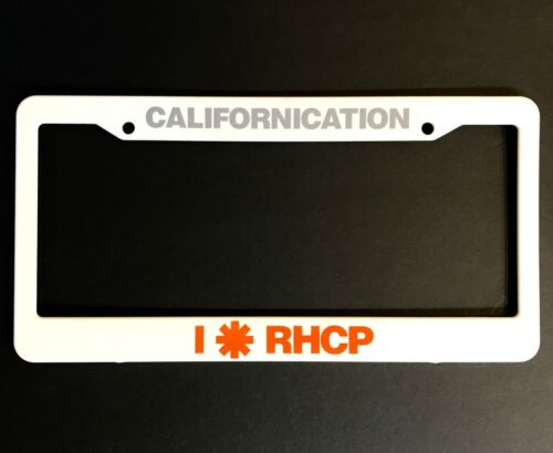RED HOT CHILI PEPPERS Californication RARE PROMO LICENSE PLATE FRAME 1999 ORIG