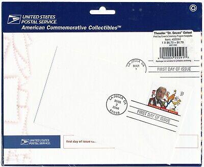 US#3835 Theodor Dr. Seuss Geisel First Day Cover & Ceremony Program Keepsake Set
