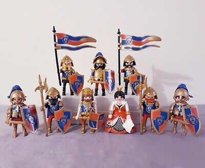 Playmobil Royal Lion Knights bundle with King and Queen, castle figures playset
