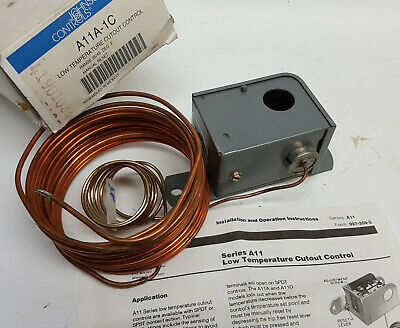 Johnson Controls A11A-1C Thermostat Controller Low Temp Cutout Manual Reset Manual Reset Johnson Controls
