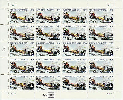 ALASKA KLONDIKE STAMP SHEET -- USA, #3235 32 CENT 1998