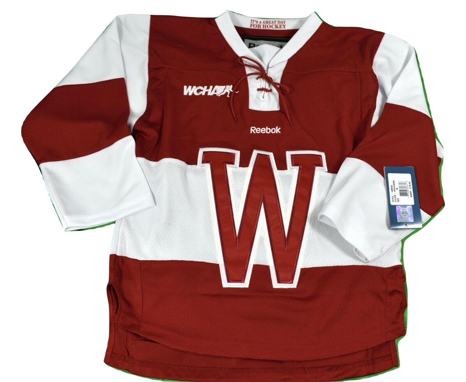 Reebok WCHA Wisconsin Badgers Premier Sewn Youth Hockey