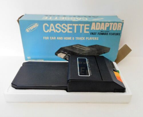 Stereo Cassette Adaptor for Car and Home 8 Track Players Vintage by Sound Wave