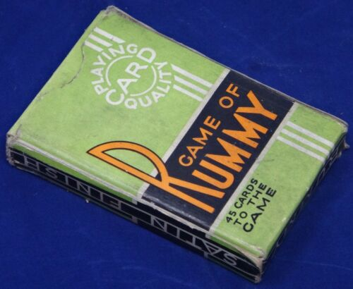 VINTAGE / ANTIQUE Whitman Publishing Company Game of RUMMY Playing Card Game