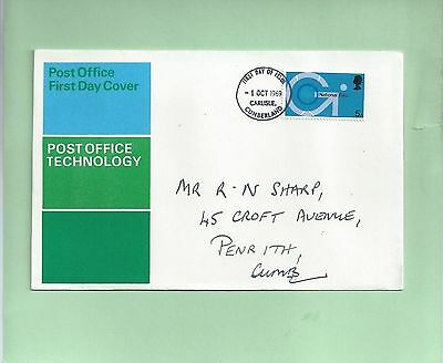 First Day Cover FDC Post Office Technology National Giro 1969 Carlisle banking