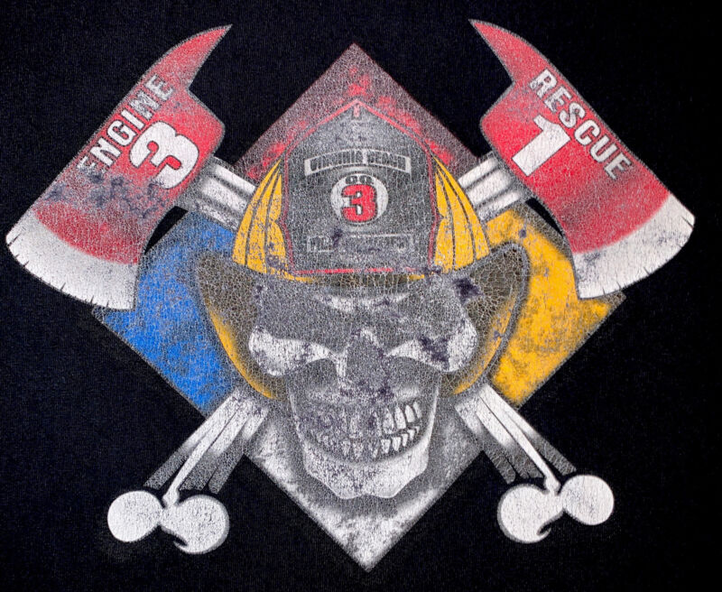 Fire EMS Haz May Department Virginia Beach VA T- Shirt Sz XL FDNY
