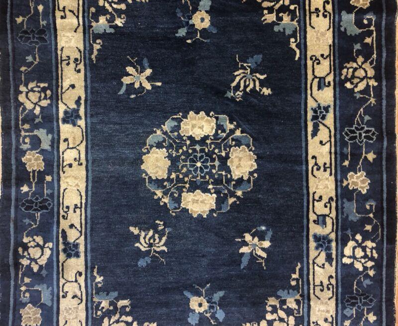 Captivating Chinese - 1900s Antique Peking Rug - Oriental Carpet - 4.1 X 5.8 Ft