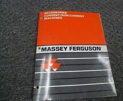 Massey Ferguson Mf 130 135 150 165 Tractor Accessories Parts Mart Catalog Manual