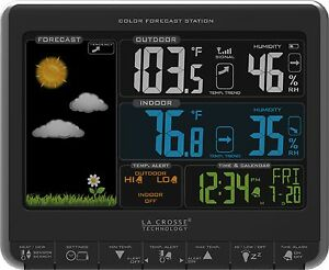 K84308 La Crosse Technology Wireless Color Forecast Weather Station USB Charging