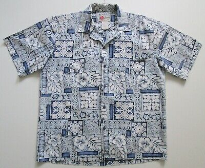 "Vintage Auth Hilo Hatties Hawaii USA  Cotton Hawaiian Shirt 50""-127cm L (95H)"
