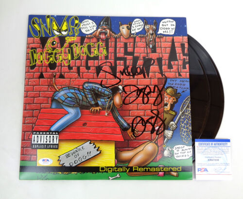 Snoop Doggy Dogg Signed Full Autograph Doggystyle Vinyl Record Album PSA/DNA COA