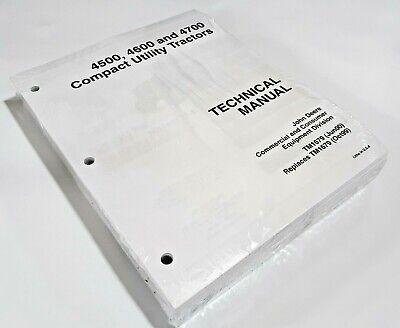 4500 John Deere Technical Service Shop Manual Repair Book In Plastic 722 Pages